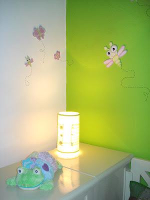 Deco beb habitaci n con mariposas y lib lulas for Tablero del deco del sitio del bebe
