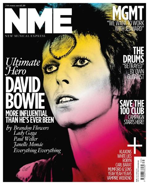 Bowie on the cover on NME magazine! NME+29.9