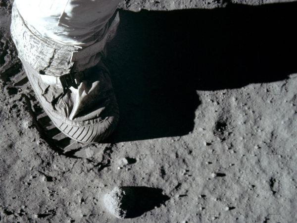 !!! Pegada de Aldrin na Lua !!!
