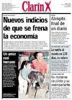 Tapa del diario Clarín del 1 de agosto de 1998, con el conflicto en Perfil (click para agrandar)