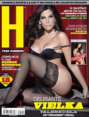 VIELKA VALENZUELA, en la portada de la revista para hombres H