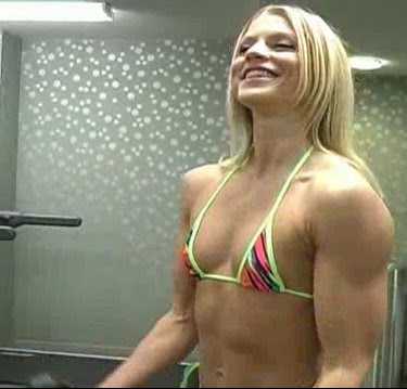 Some female bodybuilders look more natural than others.