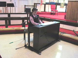 Laurel Jean presents for Pink Sunday at Grace UMC