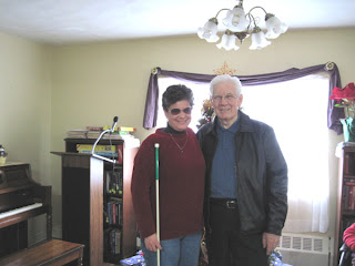 Laurel with long-time friend, Rev. Thompson
