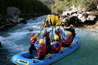 Slovenia white water rafting