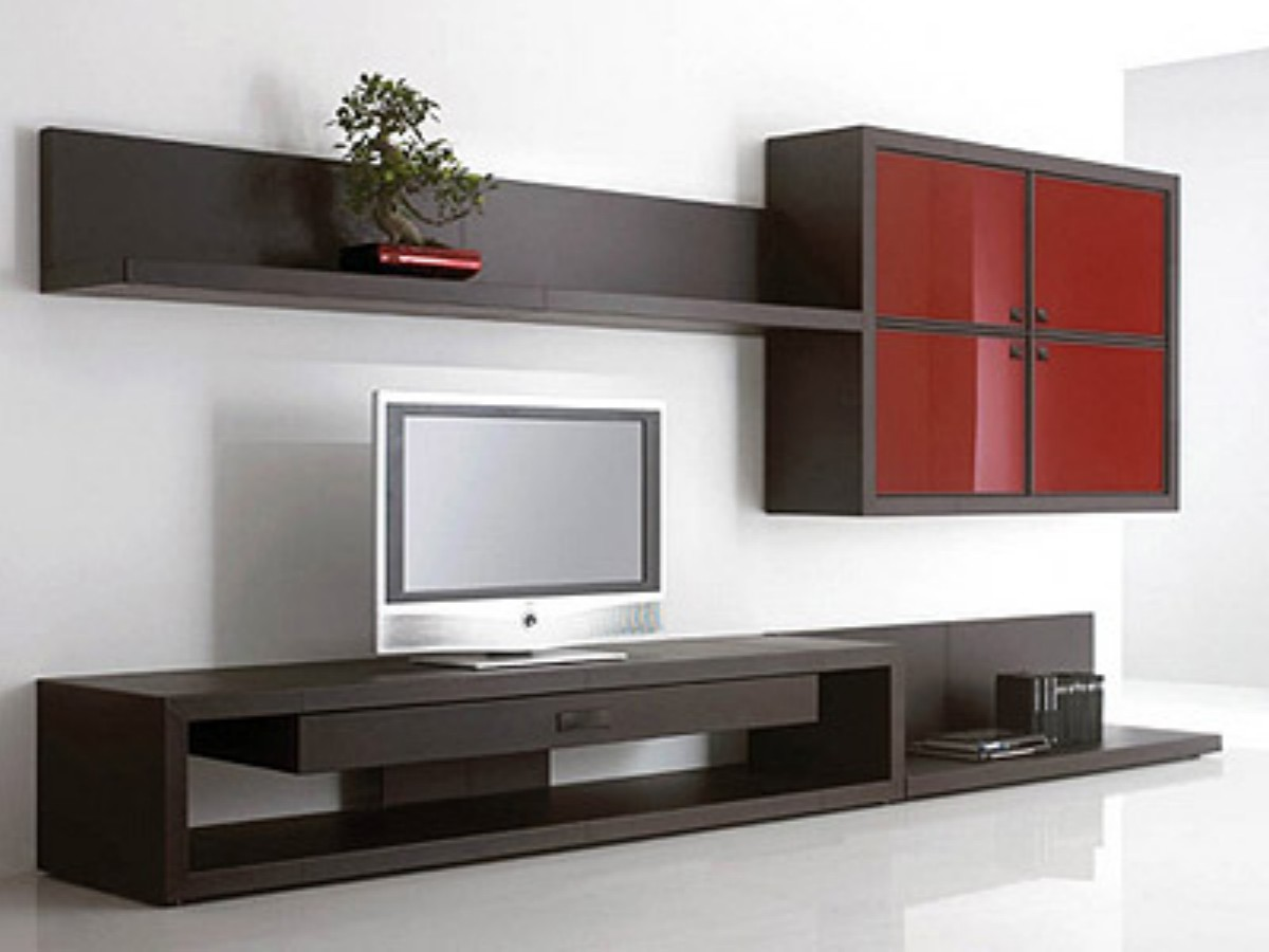 Muebles minimalistas para tv en pared for Modelos de muebles para tv