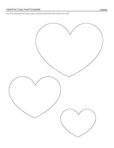 free printable valentine hearts template