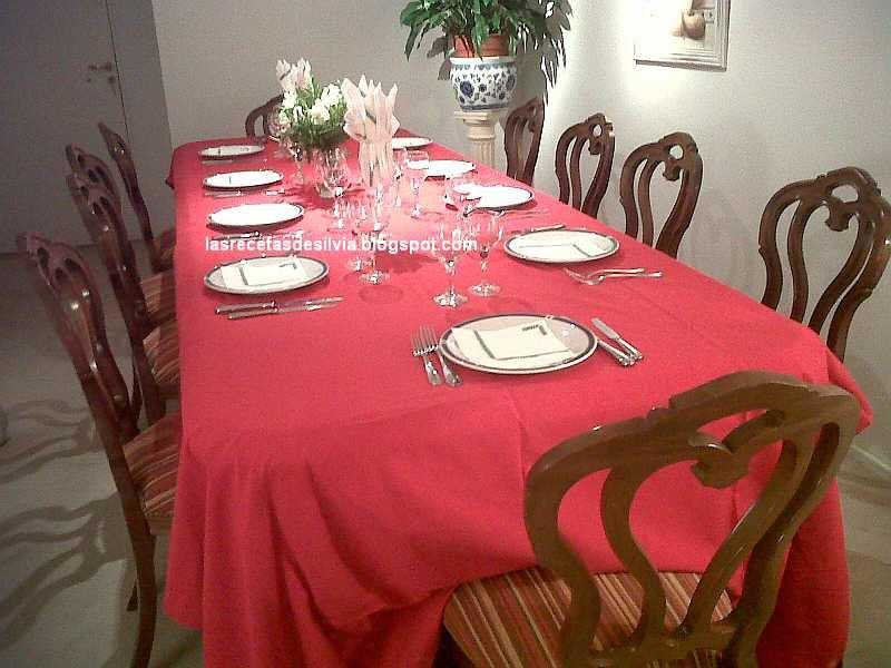 Las recetas de silvia decoracion econ mica de mesas navide as - Decoracion mesa navidena ...
