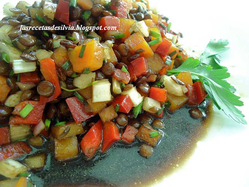 Las recetas de Silvia: Ensalada de lentejas sustanciosa