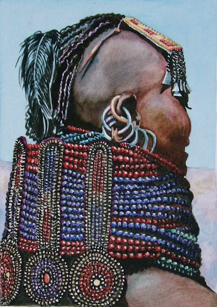 Turkana Girl  watercolour early 80s