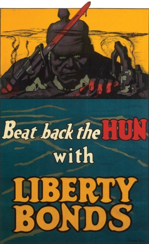 British World War I Propaganda Posters. World War hate propaganda