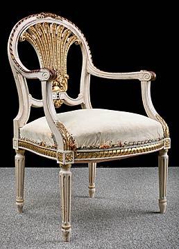 Bon (Antique French Louis XVI Style Armchair)