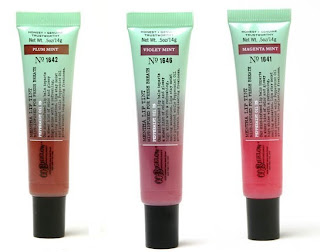 mentha C.O. Bigelows New Mentha Lip Tints
