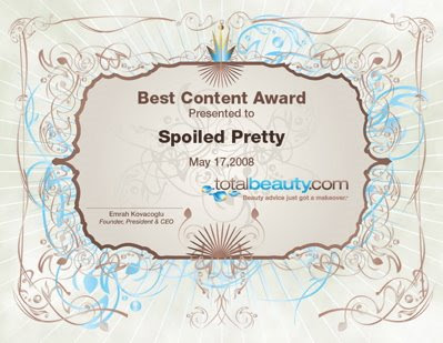 "bloggers awardCertificate bestContent My ""Best Content"" Award"