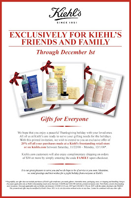 kiehls+friends+and+family Kiehls Friends &amp; Family: Save 20%