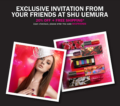 friends+and+family+shu+uemura Shu Uemura Friends & Family: 20% Off!