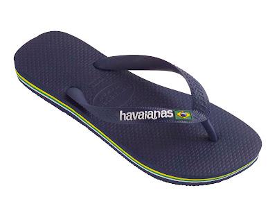 Brasil Logo Navy Blue Sandalicious Giveaway: Free Havaianas!!!