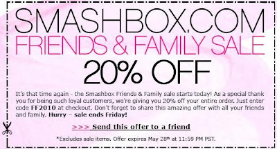 Smashbox Friends & Family 2010