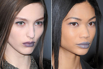gray+lipstick New York Magazine's Top Twenty Beauty Looks From Fashion Week