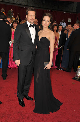 angelina and brad oscars 2009 Oscars 2009 Beauty: Angelina Jolie