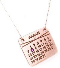 calendar+necklace Calendar Girl