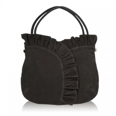 Felix+Rey+Suede+Ruffle+Tote+Bag Felix Reys Fall 2009 Handbag Collection