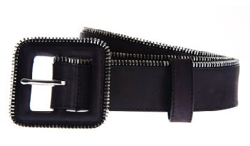 armani+exchange+zipper+belt Armani Exchange Zipper Leather Belt