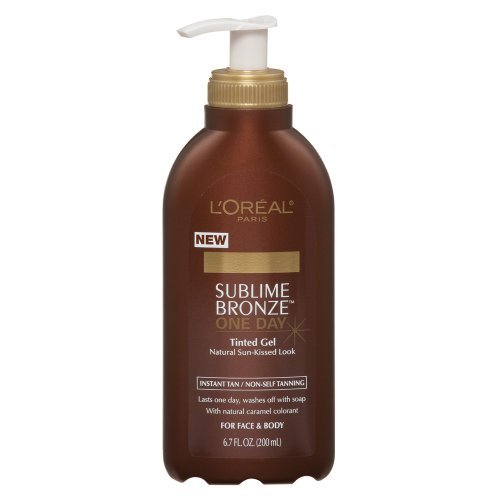 L'Oreal Sublime Bronze One Day Tinted Gel promises a natural looking,