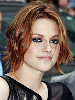 Kristen Stewart  Debuts Red Hot Hair  at Letterman and NYC Eclipse Premiere