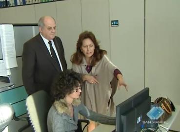 Il direttore generale della tv albanese in visita alla San Marino RTV