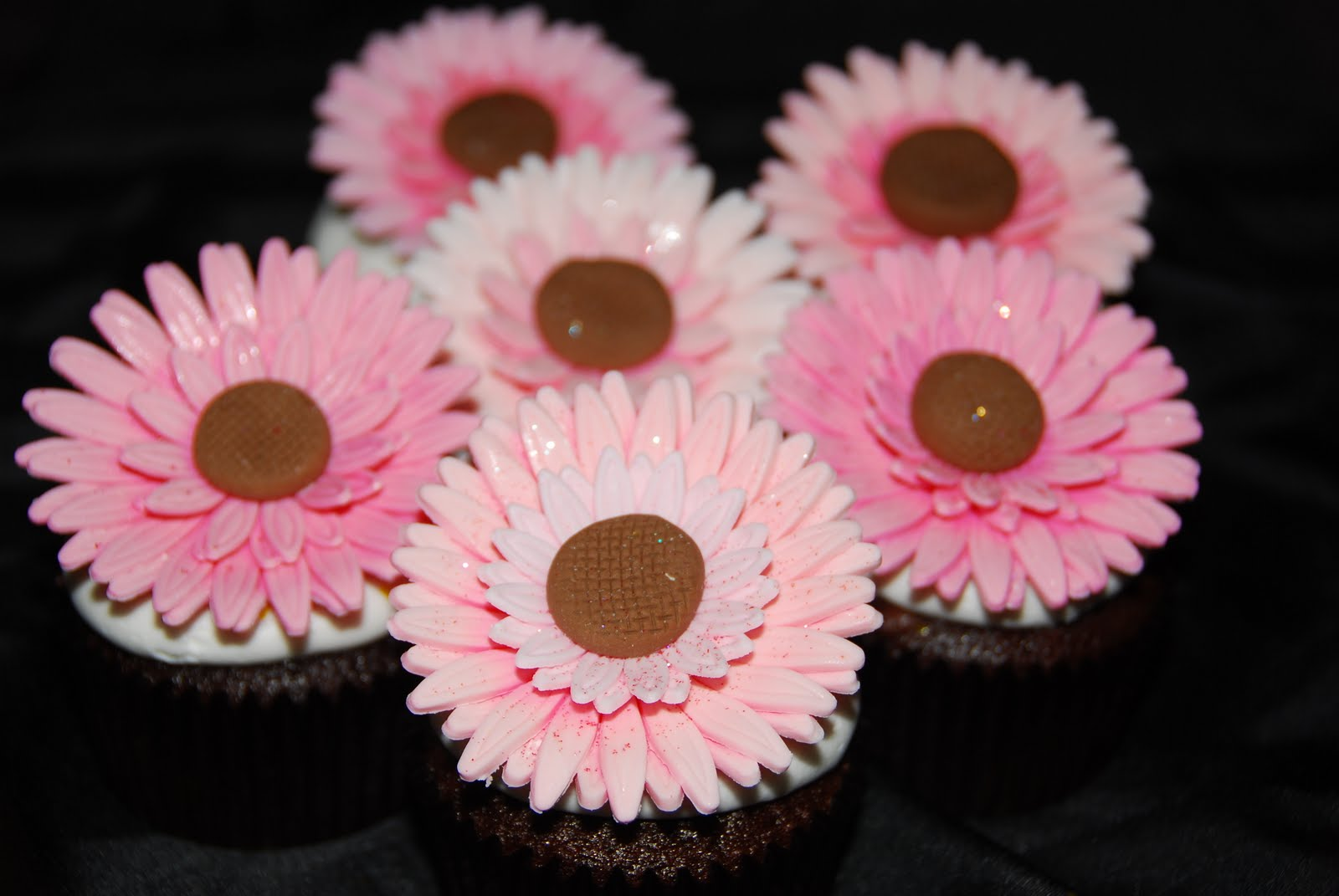 A Little Something Sweet Gerbera Daisy Cupcakes
