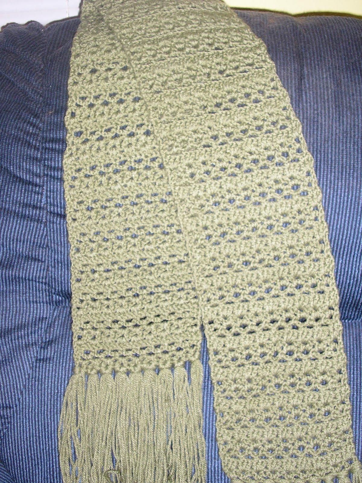 Crochet Daze: Simple Shells & Lace Scarf