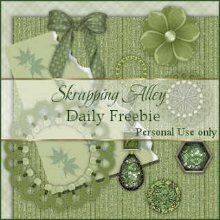 http://skrappingalley.blogspot.com/2009/05/daily-freebie-mini-kit-green-things.html