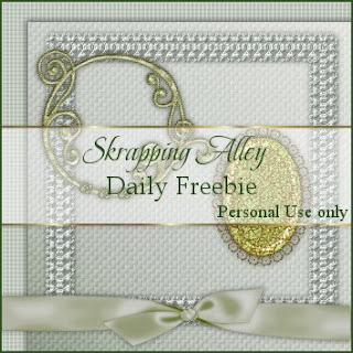 http://skrappingalley.blogspot.com/2009/10/daily-freebie-mini-kit-pale-green-linen.html