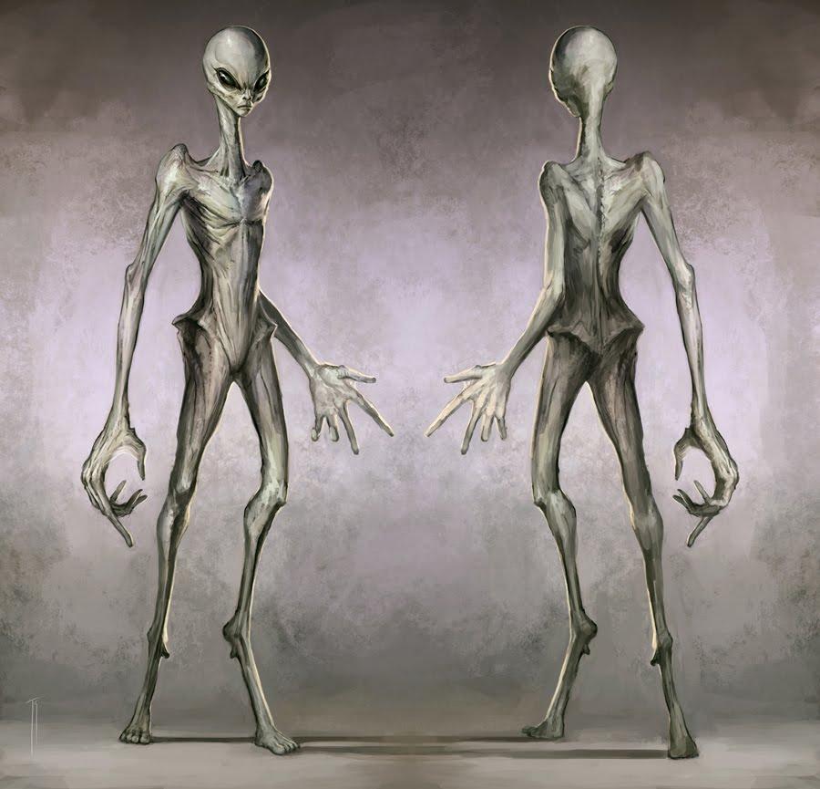 Cartoon alien ufo