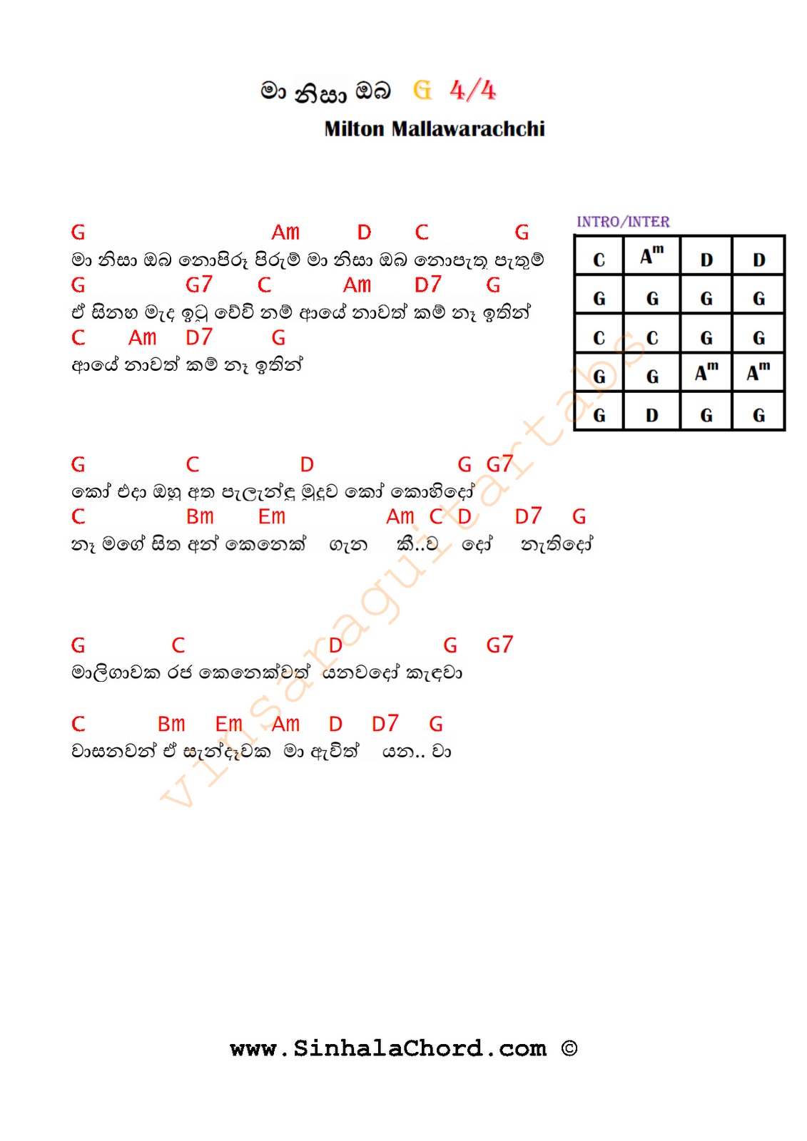 Ma nisa oba guitar chords sinhala guitar chordssinhala songs about milton mallawarachchi from wiki hexwebz Image collections
