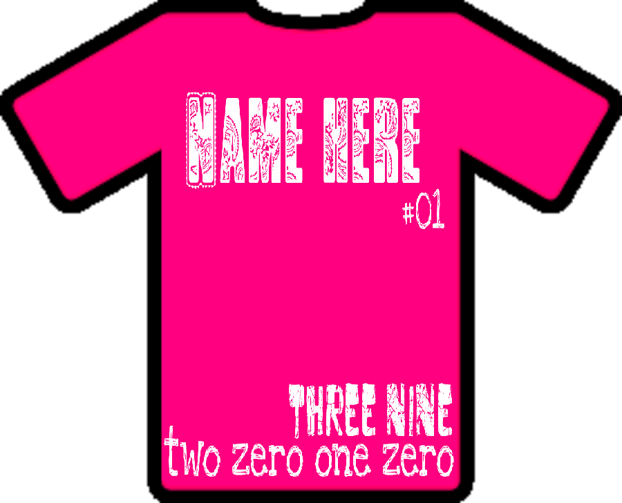 Design your own tee shirt online at customink auto for Pink t shirt template