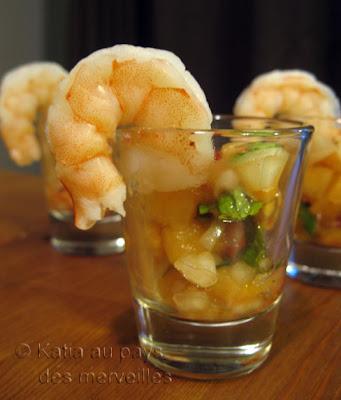 recettes  Laksa aux crevettes en verrines