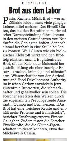 """Spiegel Artikel - """"Brot aus dem Labor"""""""