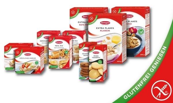 ab Dezember glutenfreie Produkte von Semper in Deutschland