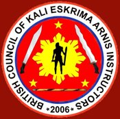 Affiliated to the British Council of Kali, Eskrima, Arnis Instructors