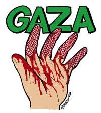 Pon este logo de Gaza en tu blog. Realizado por Jr. Mora para el Anillo Solidario.