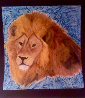 Oil pastel drawing I did of a lion