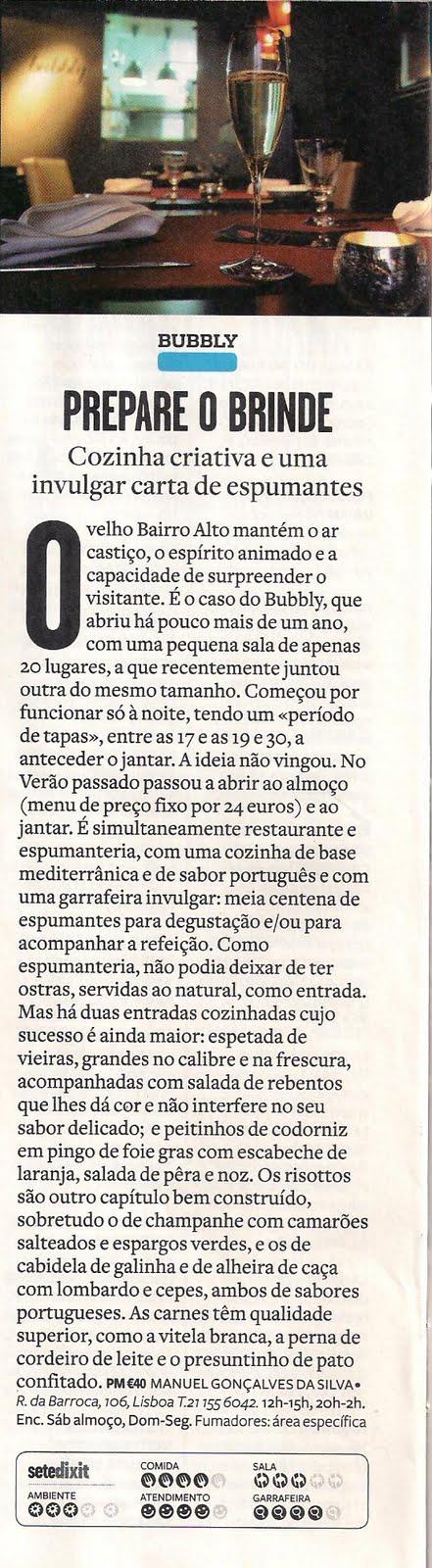 Crítica na Revista VISÃO - Março 2010 por Manuel Gonçalves da Silva