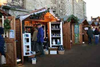 Christmaas market stalls