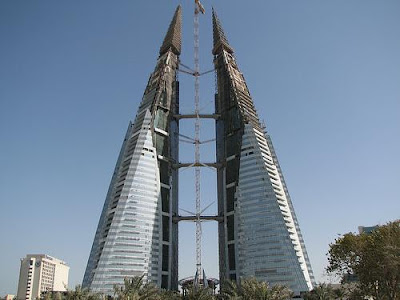 Bahrain World Trade Centre under construction