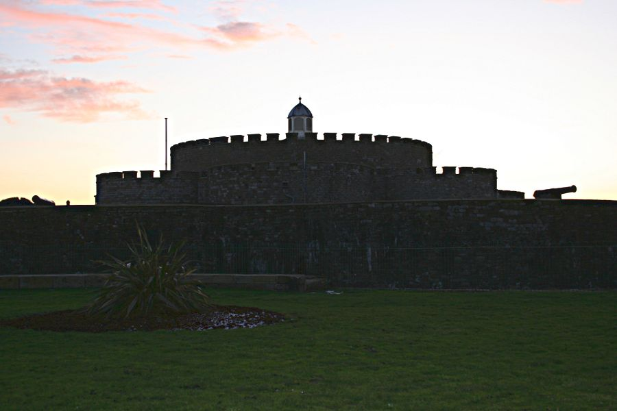 Deal castle at sunset