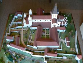 model of former abbey