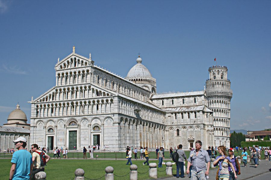 cathedral square pisa duomo and tower