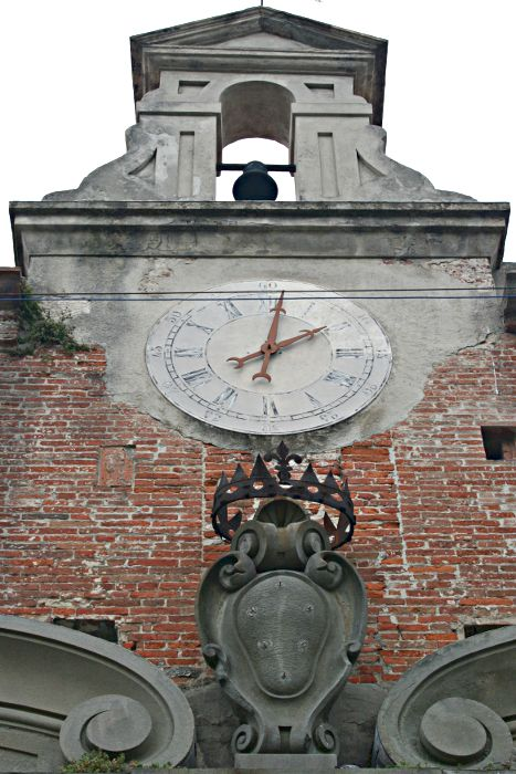 clock on outside of old building